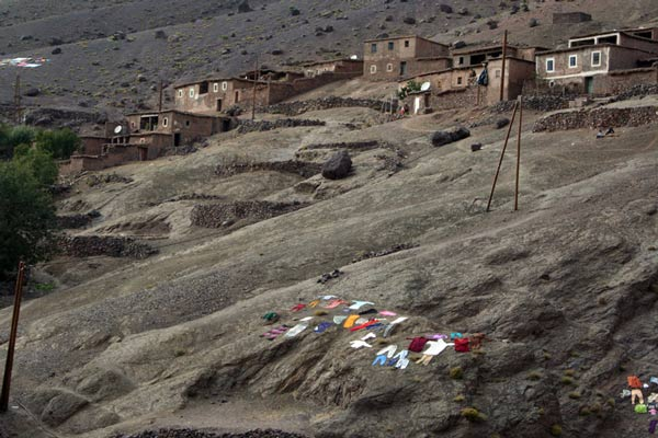Das Dorf Tacheddirt im Ouansekra-Tal