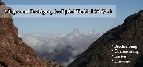 Trekking-Tour auf den Djebel Toubkal in Marokko