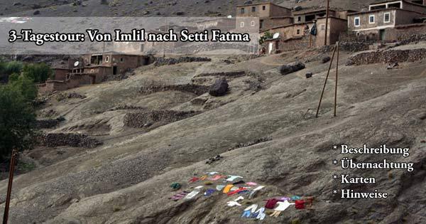 Trekking-Touren in Marokko von Imlil nach Setti Fatma