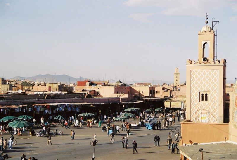 Marokko-Djemaa-El-Fna-Marrakesch