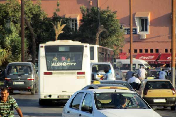 marakesh traffic