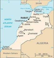 landkarte marokko tarfaya
