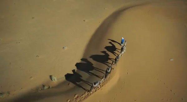 morocco sahara copter