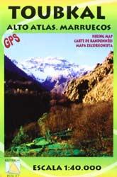Cover der Piolet-Karte vom Toubkal und dem Hohen Atlas