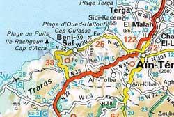 Kartenausschnitt Marokko