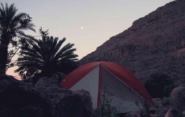 Trekking im Djebel Saghro Marokko, Zelt in den Bergen