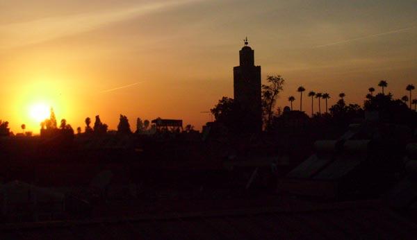 Sonnenuntergang Koutoubia Moschee