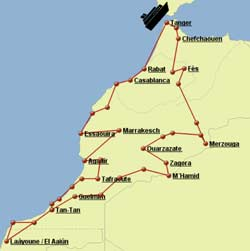 Reisebericht karte marokko offroad herrMAN