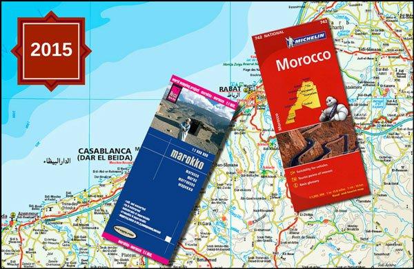 Straßenkarte marokko 2015