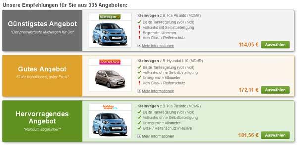 Angebote MietwagenCheck Marrakesch