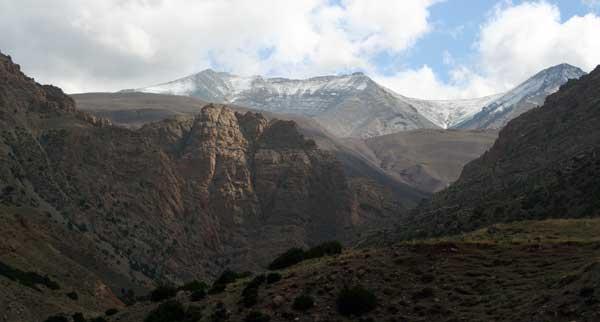 Blick vom Talder Glücklichen auf den Djebel M'Goun (Foto: Trekking Marokko)