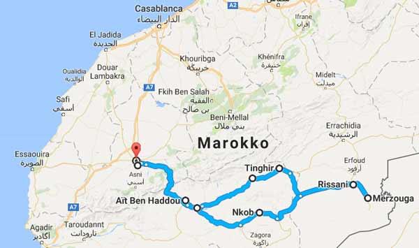 Wüstentour von Marrakesch nach Merzouga