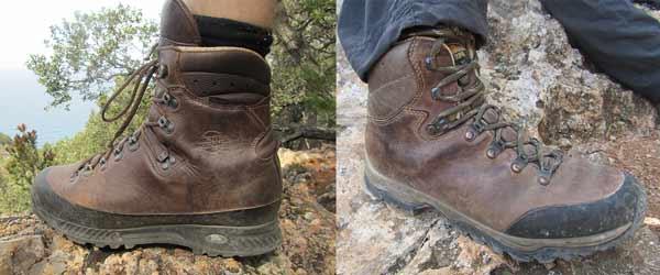 Wanderstiefel aus Gore-Tex und aus reinem Leder