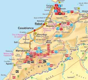 Übersicht der Touren im Rother Wanderführer Marokko