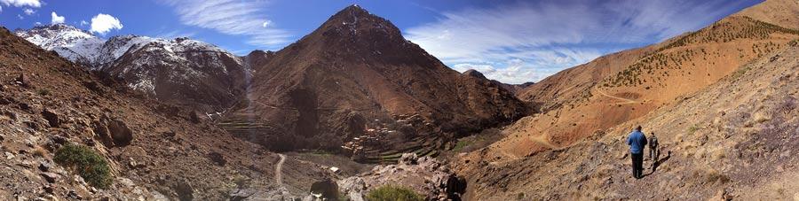 Trekking durch Berberdörfer im Atlasgebirge