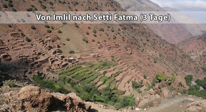 Wanderung von Imlil nach Setti Fatma