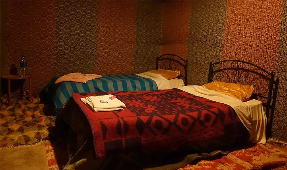 Zelt im Wüstencamp Marokko
